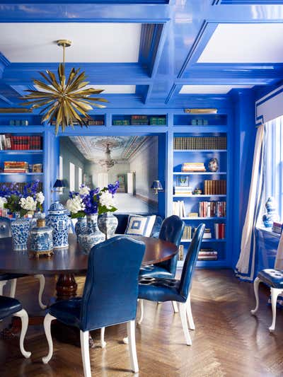 Contemporary Dining Room. Park Avenue by Kemble Interiors, Inc..