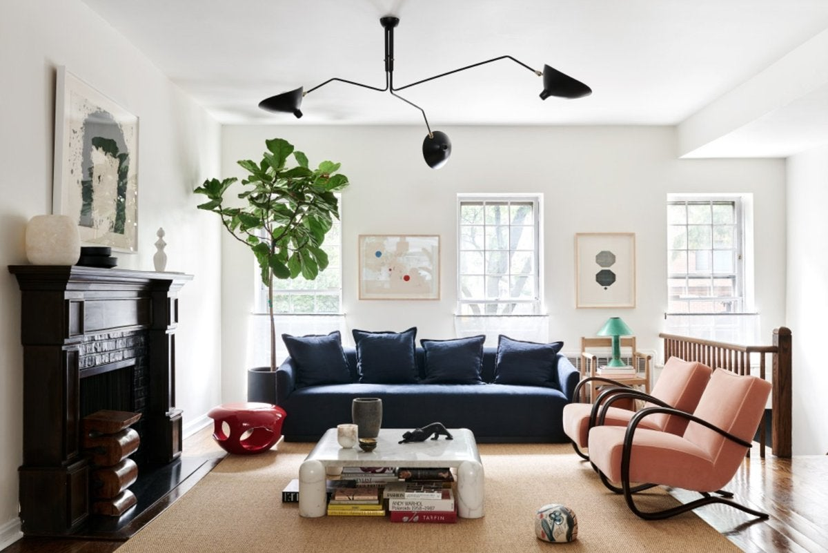 New york townhouse by giancarlo valle for Living room york