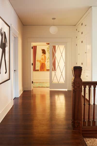 Eclectic Entry and Hall. 1917 Hancock Park Adobe by Sarah Shetter Design, Inc..