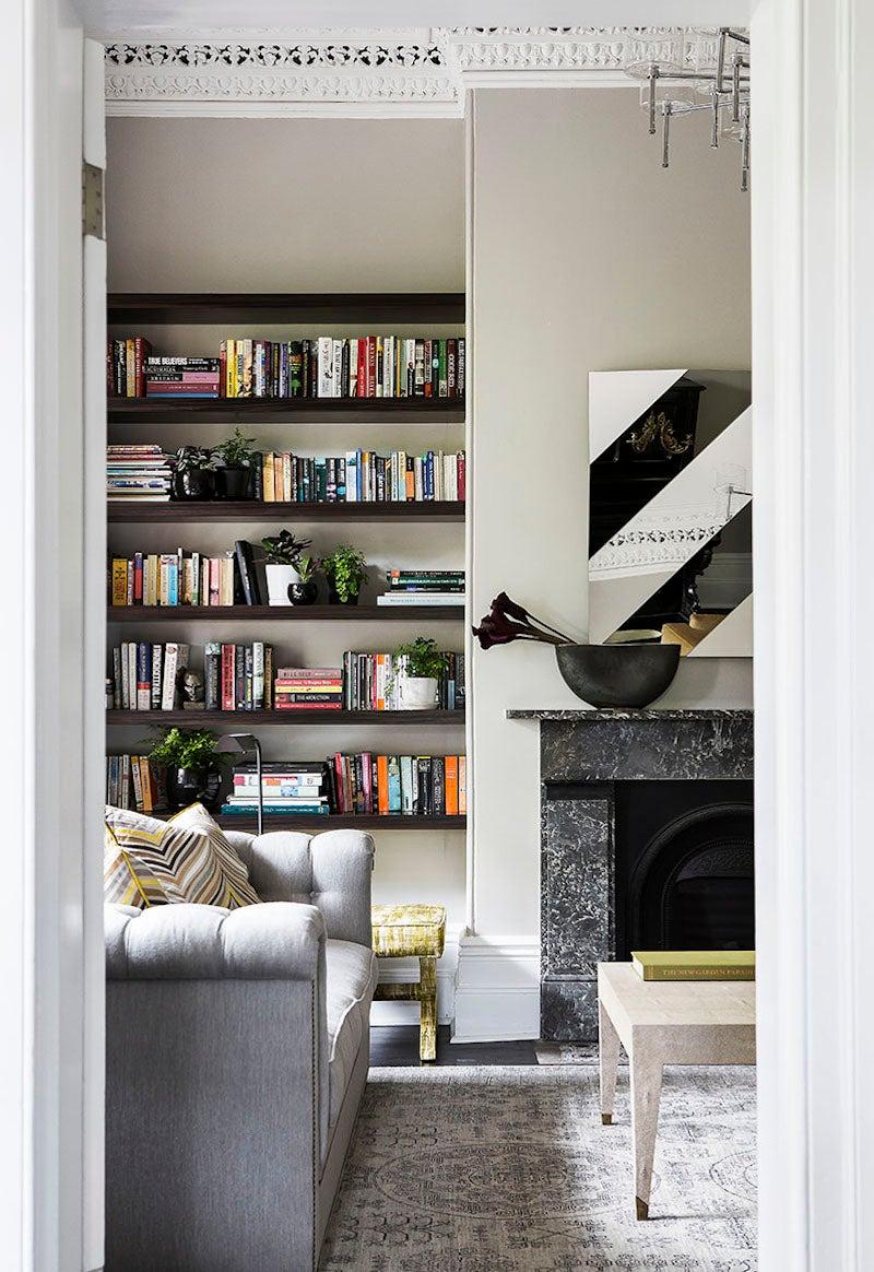 Bookshelf And Fireplace By Brendan Wong Design On 1stdibs