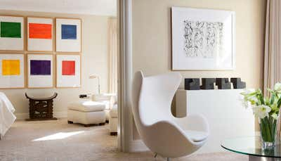 Art Deco Apartment Open Plan. Lake Shore Drive Apartment I by Bruce Fox Design.