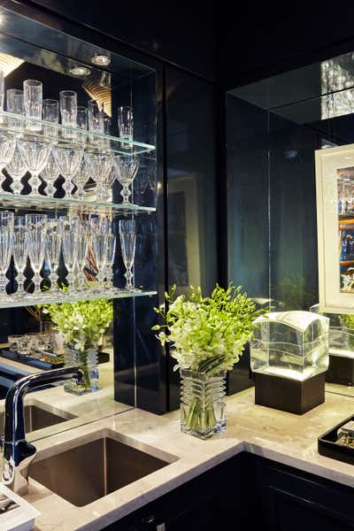 Contemporary Bar and Game Room. Kips Bay Show House | Manhattan, NYC by Alan Tanksley, Inc..