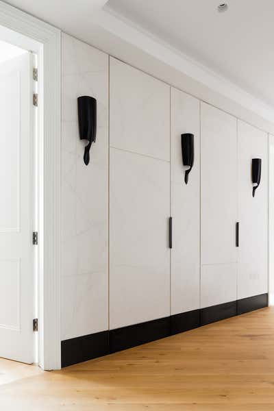 Contemporary Entry and Hall. Notting Hill Apartment by Louise Holt Design Ltd.