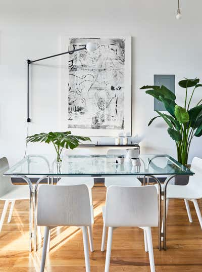 Contemporary Dining Room. Glassworks by ASH NYC.
