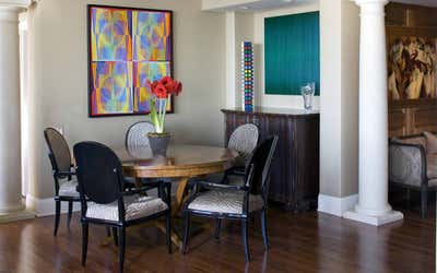 Transitional Dining Room. Transitional Apartment by Corley Design Associates.