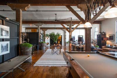 Industrial Apartment Open Plan. Art District Loft by Hammer and Spear.