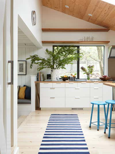 Beach Style Kitchen. Sonoma Farmhouse by Dehn Bloom Design.