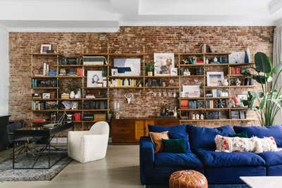 Industrial Apartment Open Plan. Tribeca Loft by Tali Roth Designs.