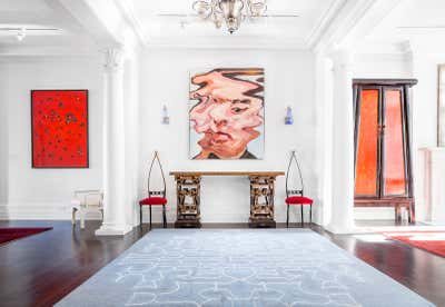 Contemporary Entry and Hall. Chelsea Townhouse by Brian Murphy Inc..
