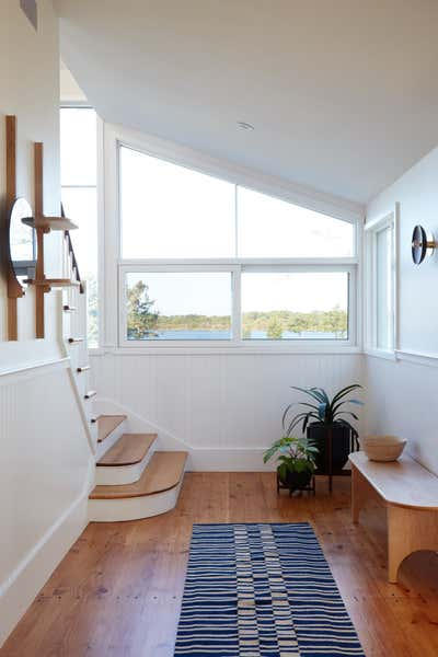 Farmhouse Entry and Hall. Cove House by Shelter.