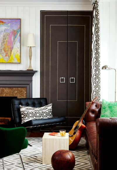 Transitional Office and Study. In Living Glamour by Aida Interior Designs.