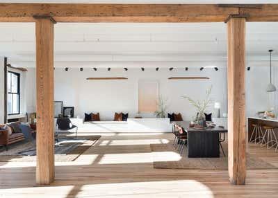 Industrial Apartment Open Plan. industrial cast iron soho loft - grand street by Becky Shea Design.