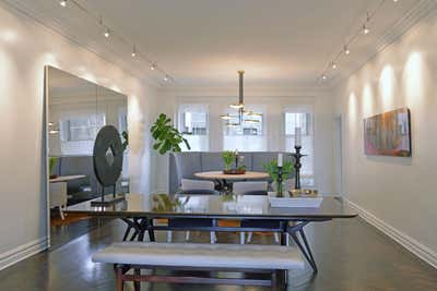 Contemporary Dining Room. East End Avenue  by Vicente Wolf Associates, Inc..