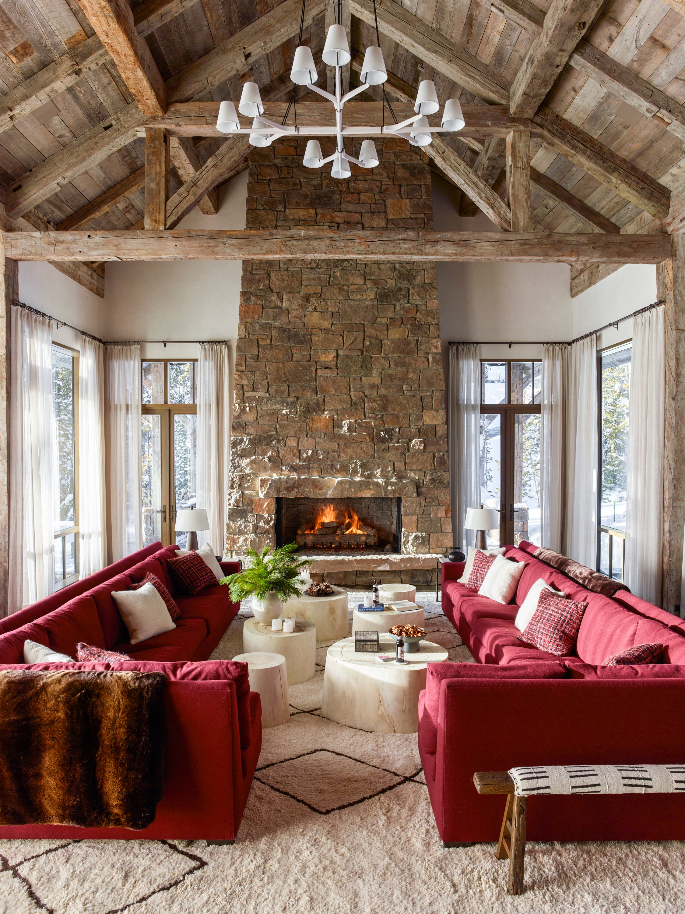 Ski Chalet Interior Design ski chalet by kylee shintaffer design on 1stdibs