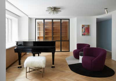Art Deco Apartment Open Plan. East 72nd Street Residence by Frederick Tang Architecture.