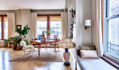 Craftsman Office and Study. Classic Decor for Coveted Tribeca Loft  by InSpace NY Design.