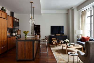 Industrial Apartment Open Plan. Tribeca Loft by Kacy Ellis Design.