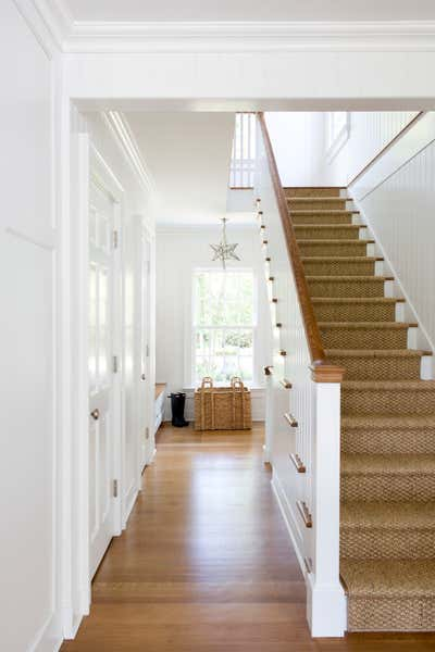 Transitional Entry and Hall. Classic Mix by Charlotte Barnes Interior Design.