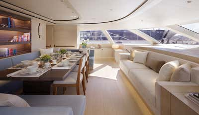 Transportation Dining Room. Sailing Yacht Twizzle by Todhunter Earle Interiors.