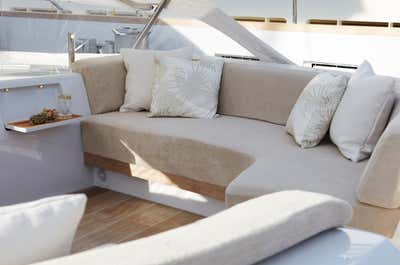 Transportation Patio and Deck. Sailing Yacht Twizzle by Todhunter Earle Interiors.