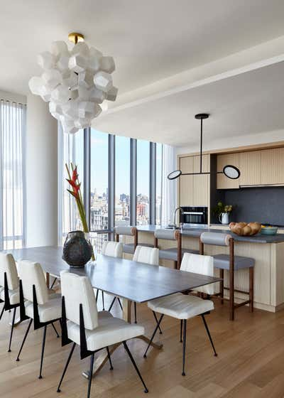 Contemporary Dining Room. 565 Broome SoHo by Damon Liss Design.