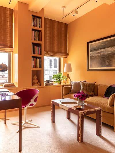 Contemporary Office and Study. Flatiron District Loft by Brockschmidt & Coleman LLC.