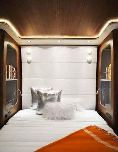 Transportation Bedroom. Private Coach by Joe Serrins Architecture Studio.