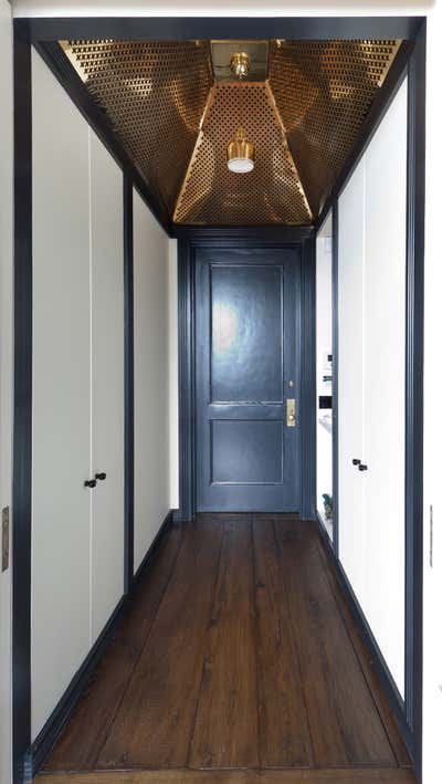 Transitional Entry and Hall. West Village Loft by All Things Dirt.