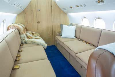 Transportation Open Plan. Private Aircraft Design by Sasha Adler Design.