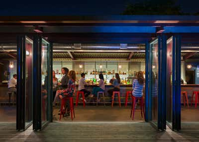 Contemporary Bar and Game Room. Dyckman Landing by Andrew Franz Architect PLLC.