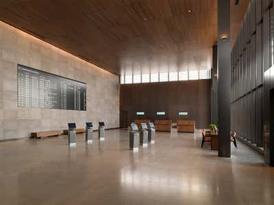 Transportation Lobby and Reception. Airport by Clive Lonstein, Inc.