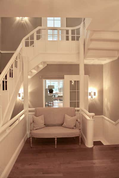 Country Entry and Hall. Villa by Fuchs Interior Design.
