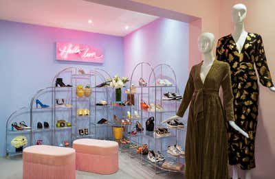 Art Deco Retail Open Plan. Tropical Chic Retail Store - Olivia Boutique by Stewart Rodriguez.