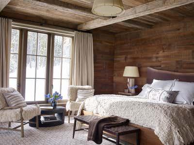 Western Bedroom. Montana Ranch by Victoria Hagan Interiors.