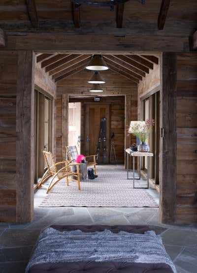 Western Entry and Hall. Montana Ranch by Victoria Hagan Interiors.
