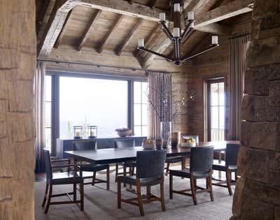 Western Dining Room. Montana Ranch by Victoria Hagan Interiors.