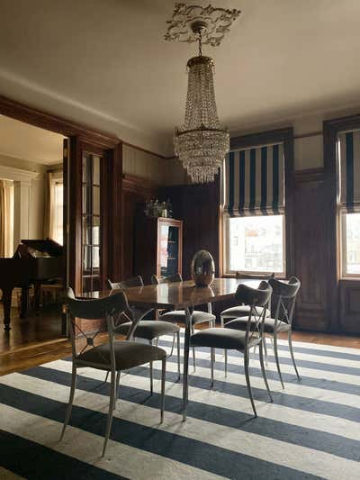 Transitional Dining Room. CLASSIC SIX by Joyce Sitterly Interior Design.