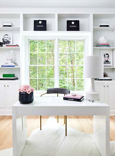 """Modern Office and Study. """"California"""" Cool Update/Remodel by JWS Interiors."""