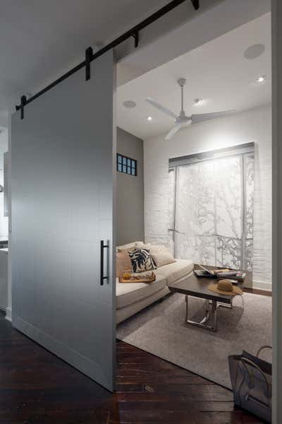 Industrial Office and Study. Mill Building Loft by Michael Garvey Interiors.