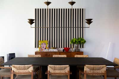 Contemporary Dining Room. 42 Crosby St by Samuel Amoia Associates.