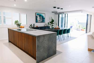 Industrial Family Home Open Plan. Bell Residence  by Tailor & Nest.