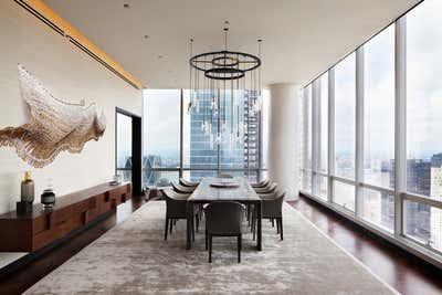 Modern Dining Room. Manhattan One57 by Jasmine Lam Interior Design + Architecture.