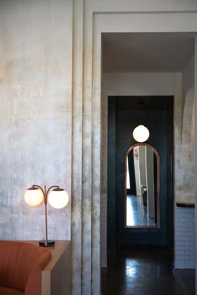 Art Deco Entry and Hall. 5 LEAVES LA  by Home Studios.