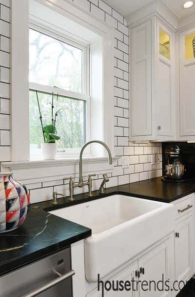 Modern Kitchen. New Take on a Victorian Foursquare by Spencer Design Associates.