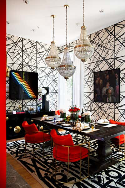 Eclectic Dining Room. Eclectic Rock Star by Peti Lau Inc.