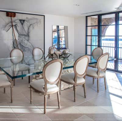 Mediterranean Dining Room. South of France House by Nicholas Haslam LTD.