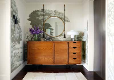 Art Deco Entry and Hall. UPTOWN HIGHRISE by Brandon Fontenot Interiors.