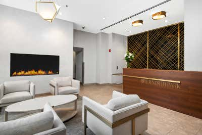 Government/Institutional Lobby and Reception. River North Park Apartments by Brass Tacks Studio.