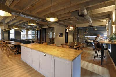 Industrial Office Open Plan. London Office, Liverpool Street by Gomm Studio Ltd.