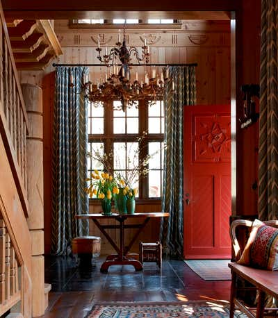 Country Entry and Hall. Midwestern Camp Compound by Bruce Fox Design.